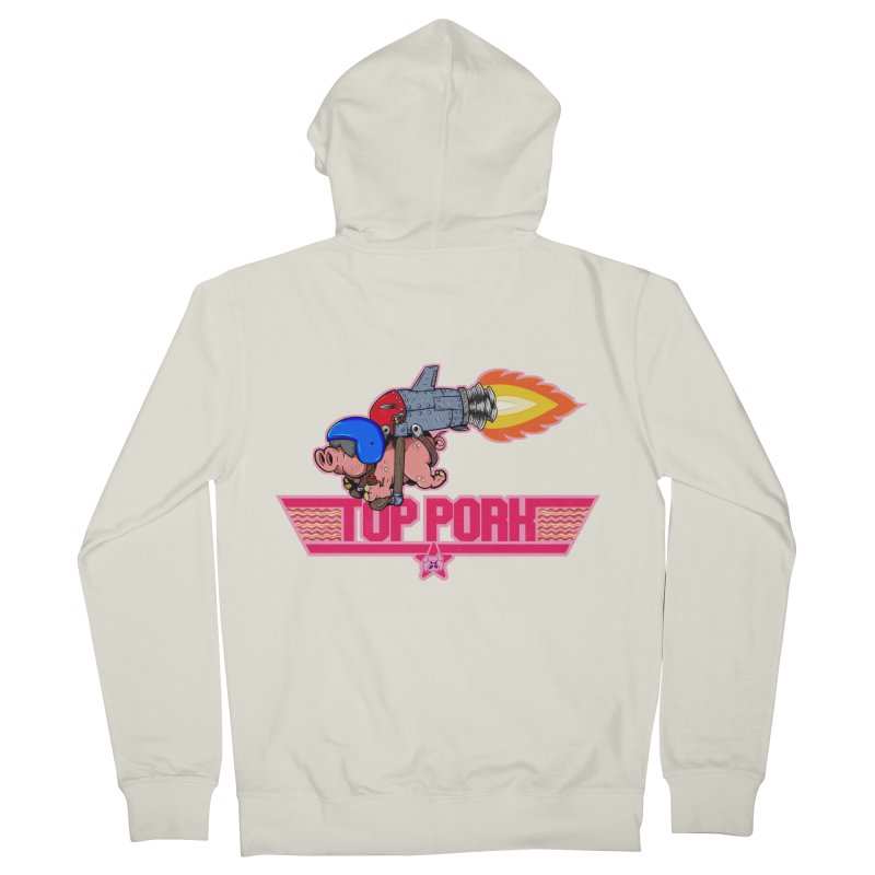 Top Pork Women's French Terry Zip-Up Hoody by The Last Tsunami's Artist Shop