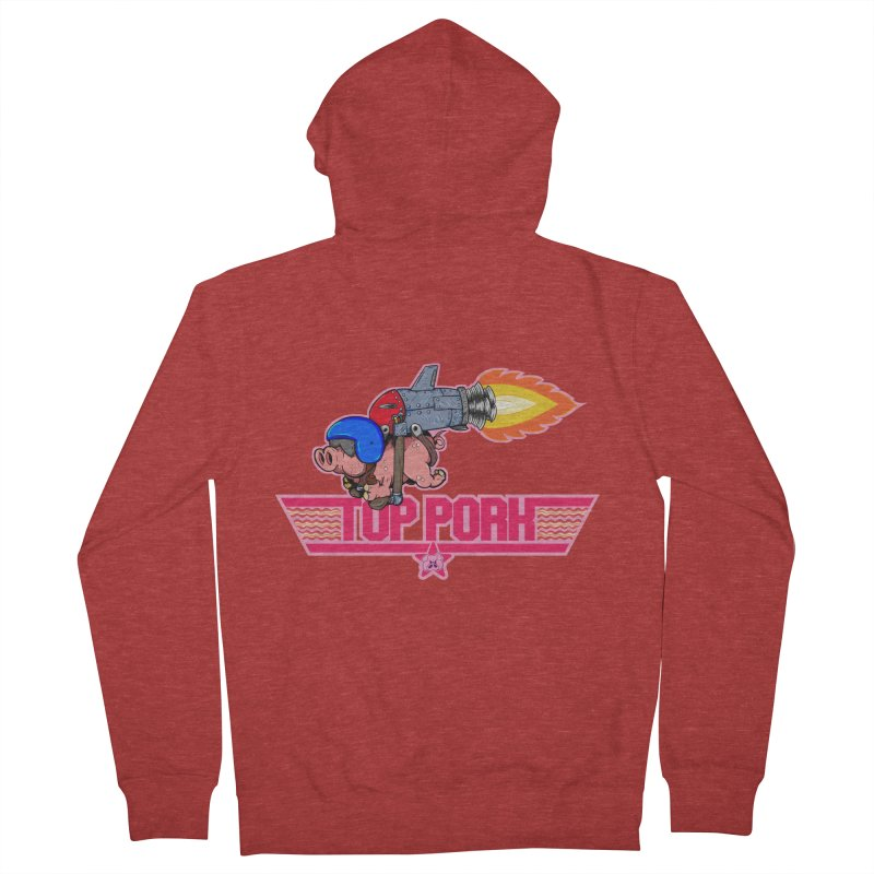 Top Pork Men's French Terry Zip-Up Hoody by The Last Tsunami's Artist Shop
