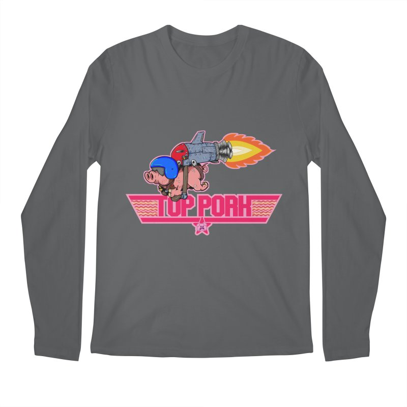 Top Pork Men's Regular Longsleeve T-Shirt by The Last Tsunami's Artist Shop
