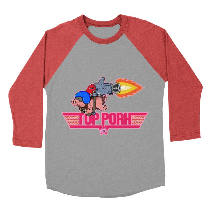 Top Pork Women's Baseball Triblend Longsleeve T-Shirt by The Last Tsunami's Artist Shop