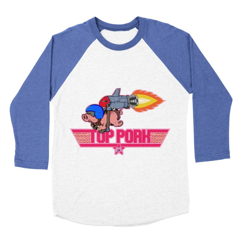 Top Pork Men's Baseball Triblend Longsleeve T-Shirt by The Last Tsunami's Artist Shop