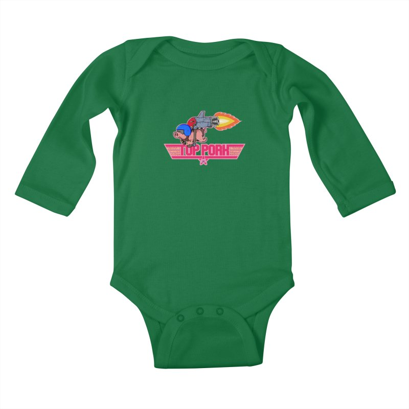 Top Pork Kids Baby Longsleeve Bodysuit by The Last Tsunami's Artist Shop