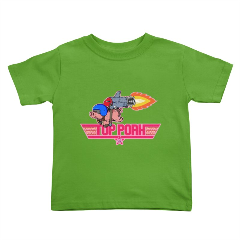 Top Pork Kids Toddler T-Shirt by The Last Tsunami's Artist Shop