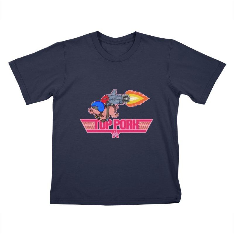 Top Pork Kids T-Shirt by The Last Tsunami's Artist Shop