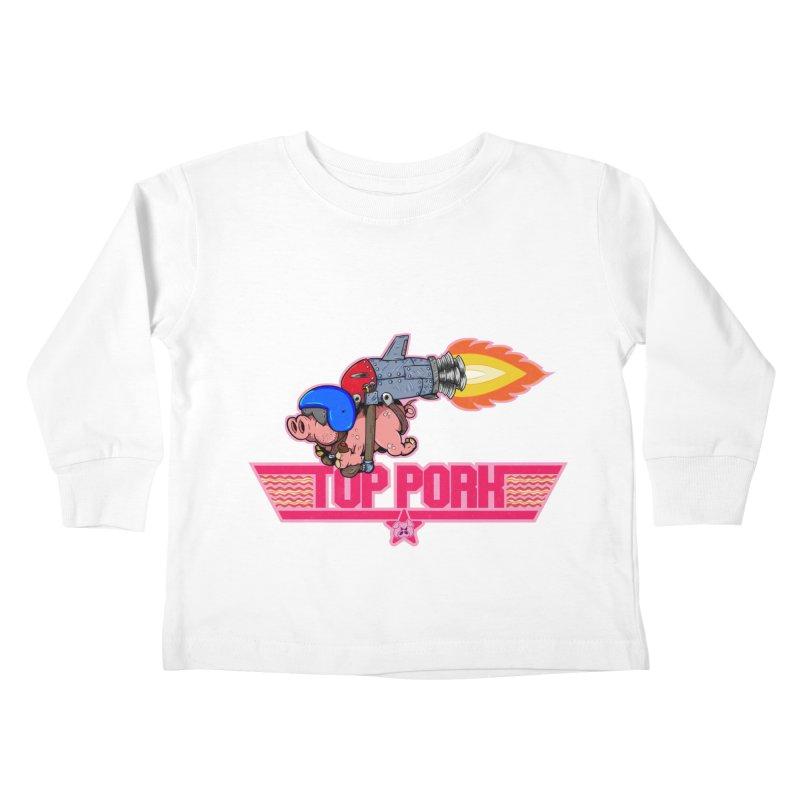 Top Pork Kids Toddler Longsleeve T-Shirt by The Last Tsunami's Artist Shop
