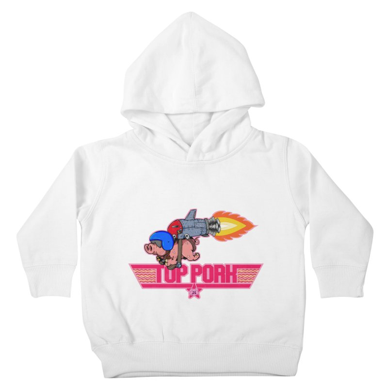 Top Pork Kids Toddler Pullover Hoody by The Last Tsunami's Artist Shop