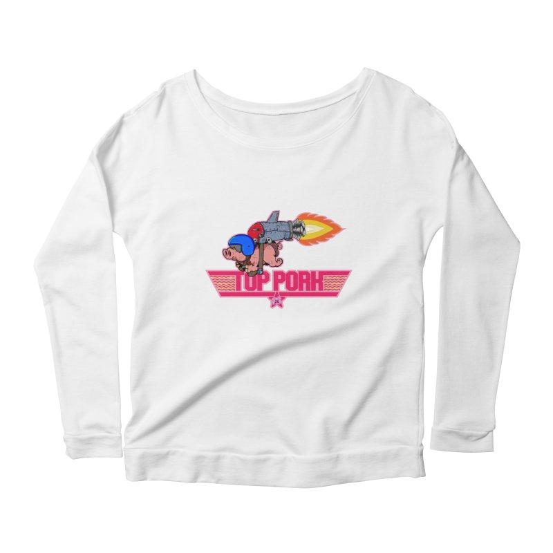 Top Pork Women's Scoop Neck Longsleeve T-Shirt by The Last Tsunami's Artist Shop