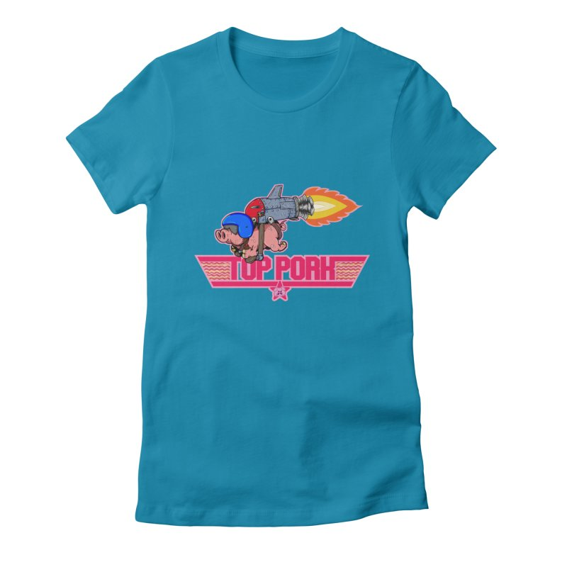 Top Pork Women's Fitted T-Shirt by The Last Tsunami's Artist Shop