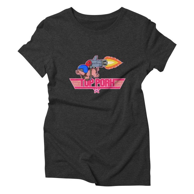 Top Pork Women's Triblend T-Shirt by The Last Tsunami's Artist Shop
