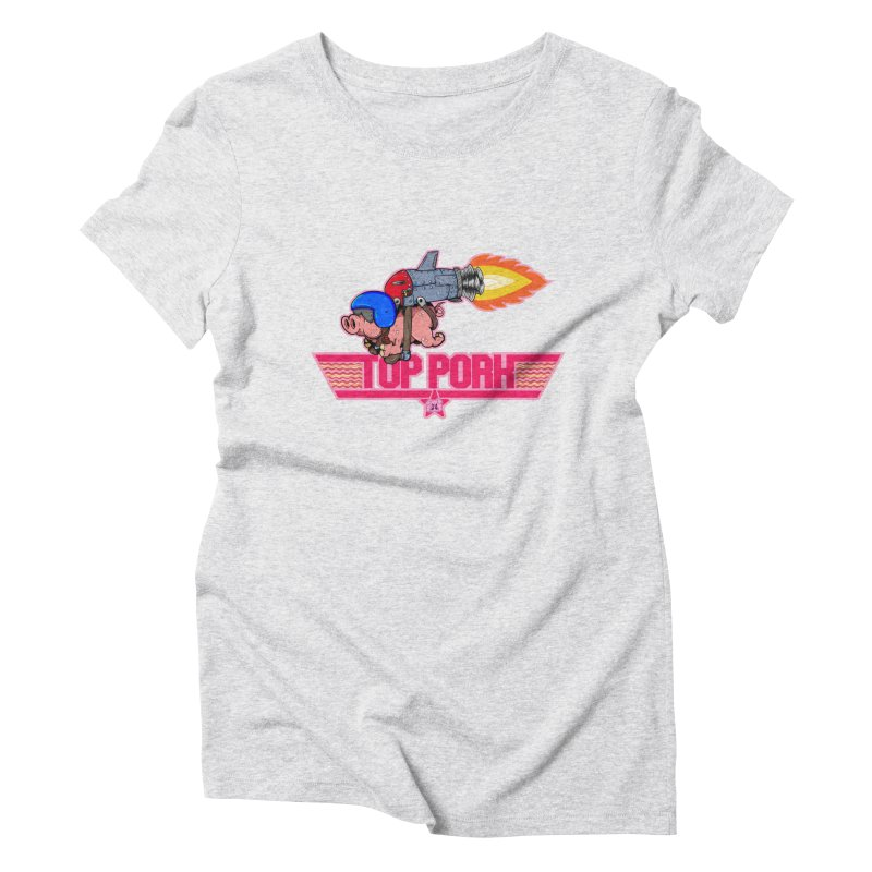 Top Pork Women's Triblend T-Shirt by The Last Tsunami's Artist Shop