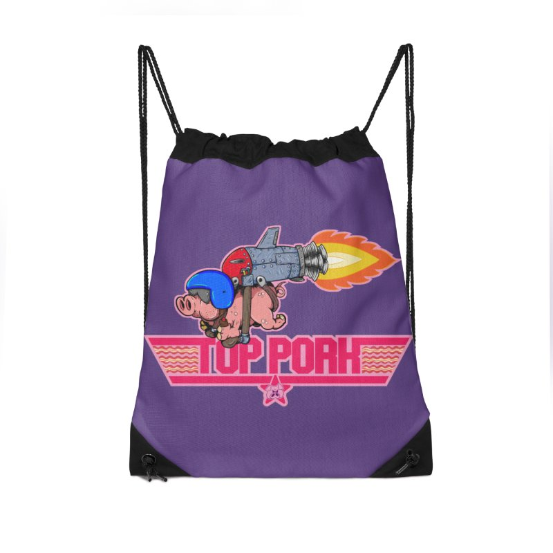 Top Pork Accessories Drawstring Bag Bag by The Last Tsunami's Artist Shop