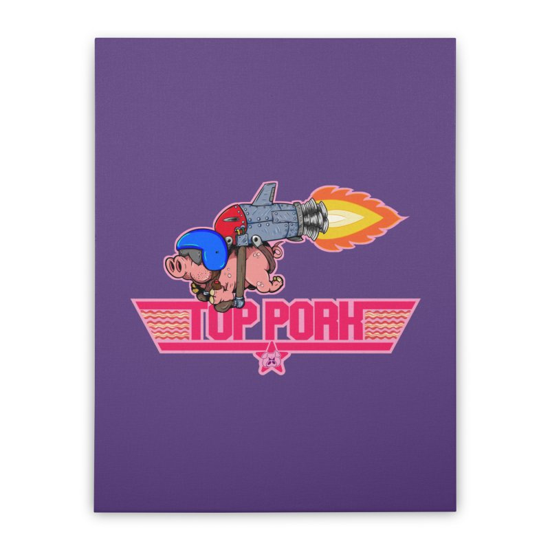 Top Pork Home Stretched Canvas by The Last Tsunami's Artist Shop