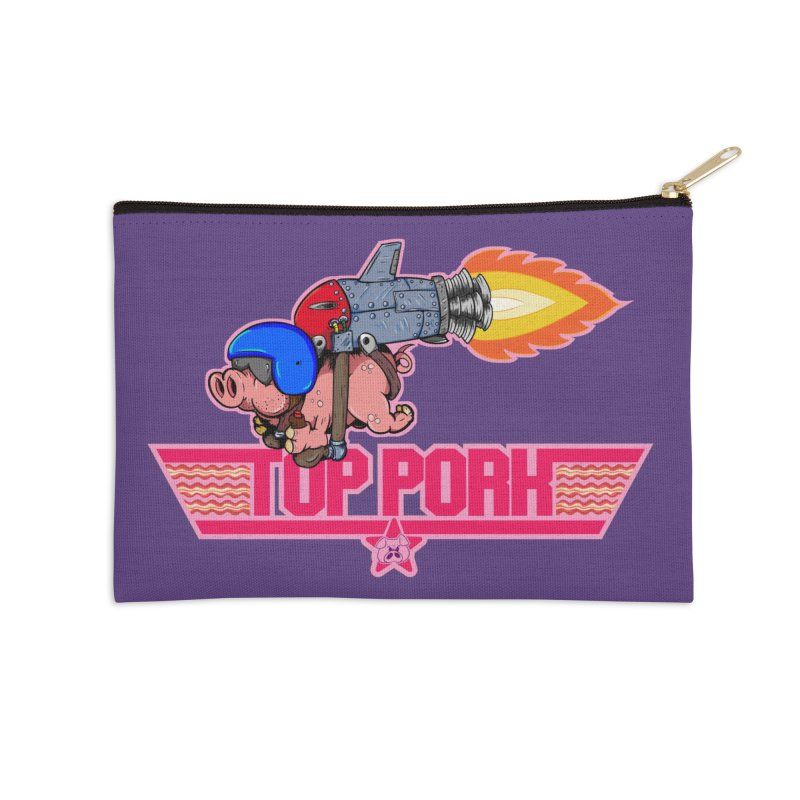 Top Pork Accessories Zip Pouch by The Last Tsunami's Artist Shop