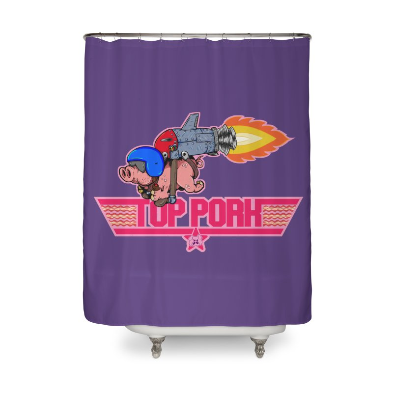 Top Pork Home Shower Curtain by The Last Tsunami's Artist Shop