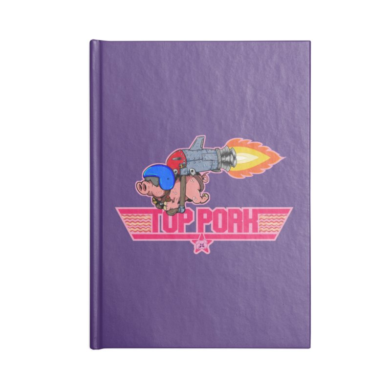 Top Pork Accessories Blank Journal Notebook by The Last Tsunami's Artist Shop
