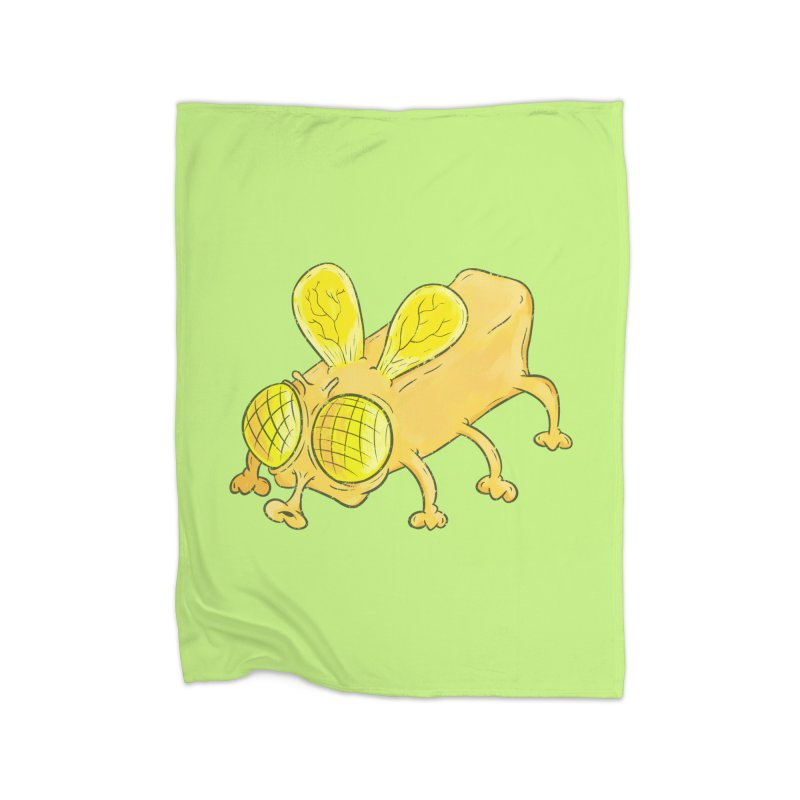 Butterfly Home Fleece Blanket Blanket by The Last Tsunami's Artist Shop