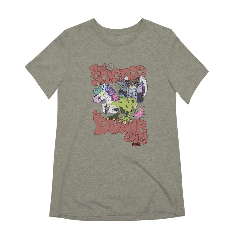 Mad Science for Dumb Cats Vol 1 Women's Extra Soft T-Shirt by The Last Tsunami's Artist Shop