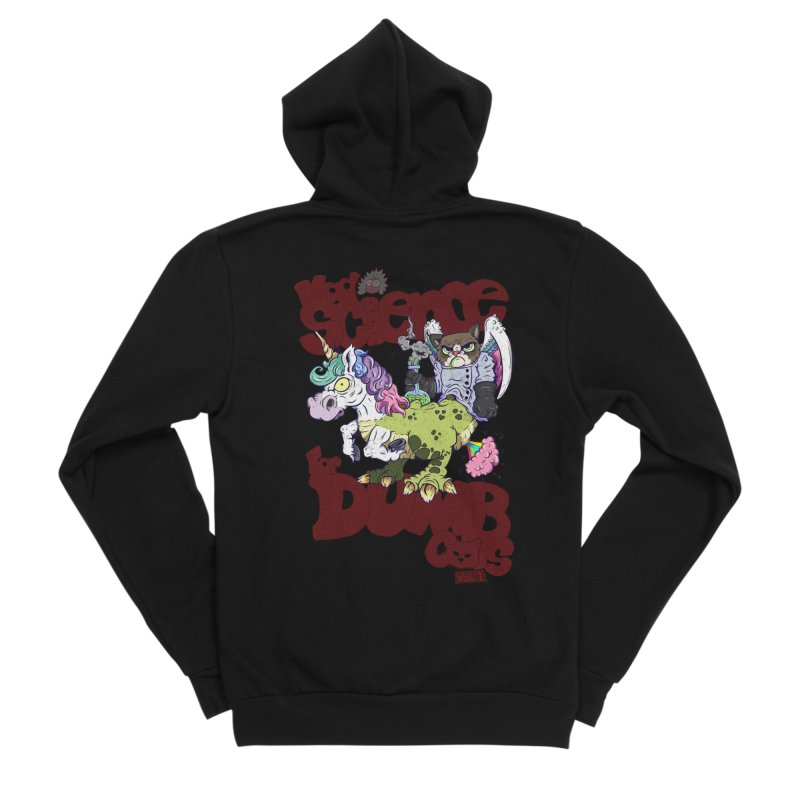 Mad Science for Dumb Cats Vol 1 Men's Sponge Fleece Zip-Up Hoody by The Last Tsunami's Artist Shop