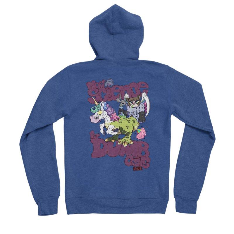 Mad Science for Dumb Cats Vol 1 Men's Sponge Fleece Zip-Up Hoody by The Last Tsunami's Artist Shop