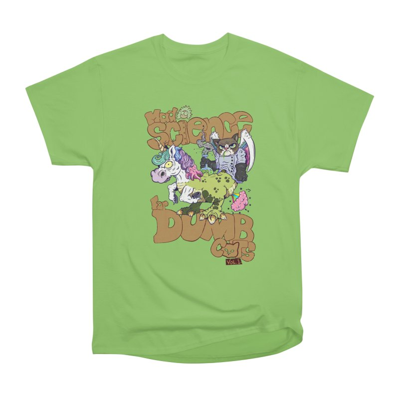 Mad Science for Dumb Cats Vol 1 Women's Heavyweight Unisex T-Shirt by The Last Tsunami's Artist Shop