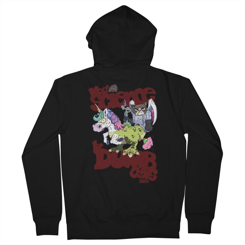 Mad Science for Dumb Cats Vol 1 Women's French Terry Zip-Up Hoody by The Last Tsunami's Artist Shop