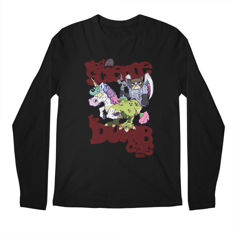Mad Science for Dumb Cats Vol 1 Men's Regular Longsleeve T-Shirt by The Last Tsunami's Artist Shop