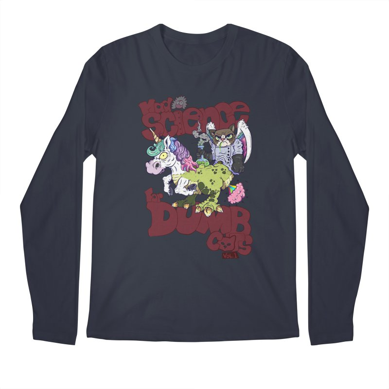 Mad Science for Dumb Cats Vol 1 Men's Longsleeve T-Shirt by The Last Tsunami's Artist Shop