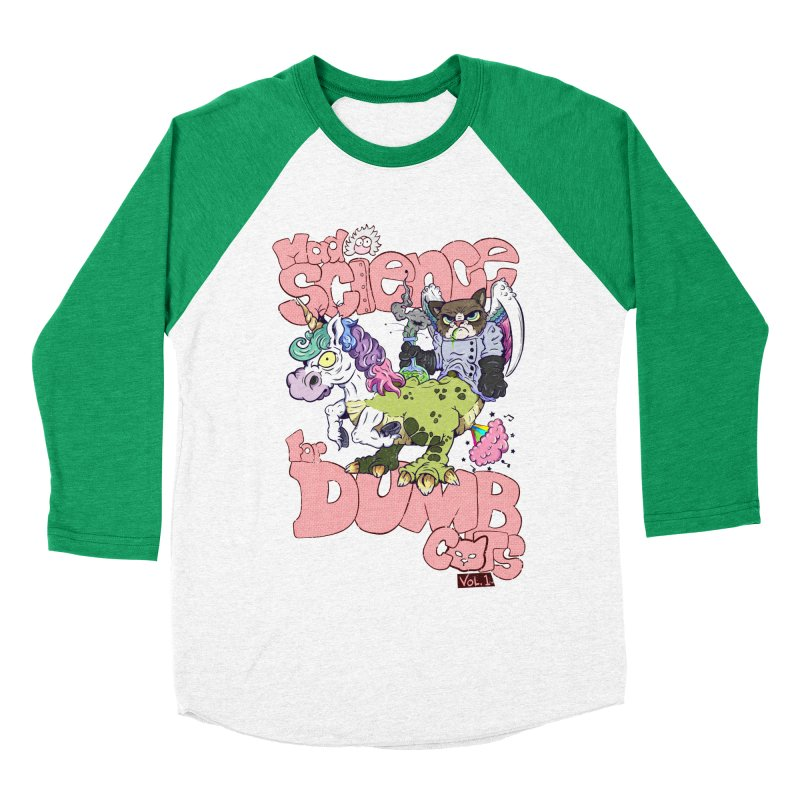 Mad Science for Dumb Cats Vol 1 Women's Baseball Triblend Longsleeve T-Shirt by The Last Tsunami's Artist Shop
