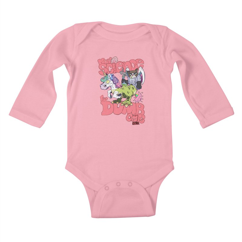 Mad Science for Dumb Cats Vol 1 Kids Baby Longsleeve Bodysuit by The Last Tsunami's Artist Shop