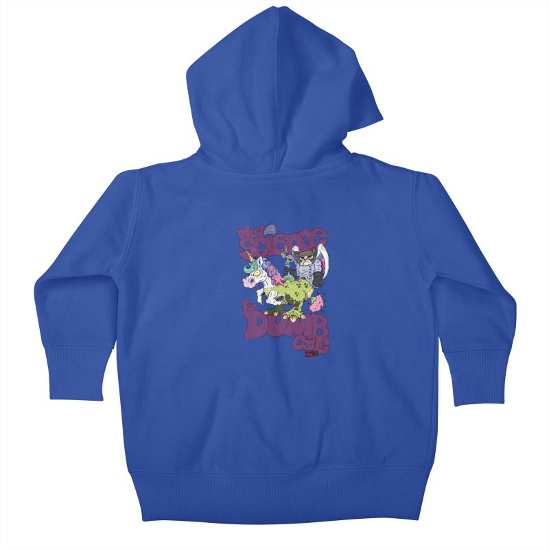 Mad Science for Dumb Cats Vol 1 Kids Baby Zip-Up Hoody by The Last Tsunami's Artist Shop