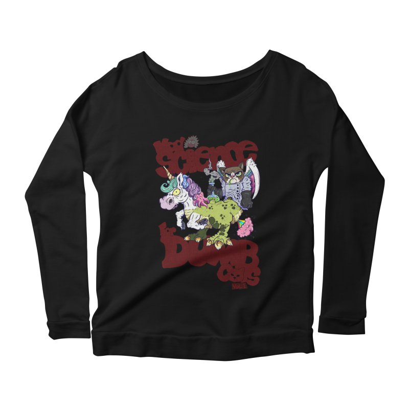 Mad Science for Dumb Cats Vol 1 Women's Scoop Neck Longsleeve T-Shirt by The Last Tsunami's Artist Shop