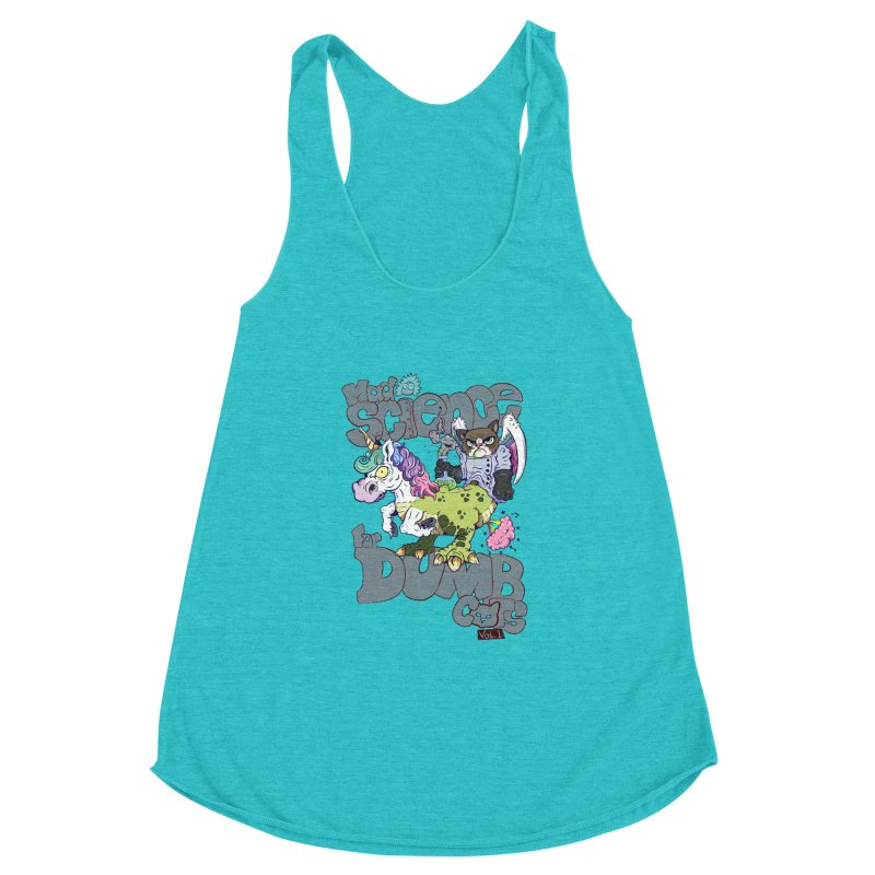 Mad Science for Dumb Cats Vol 1 Women's Racerback Triblend Tank by The Last Tsunami's Artist Shop