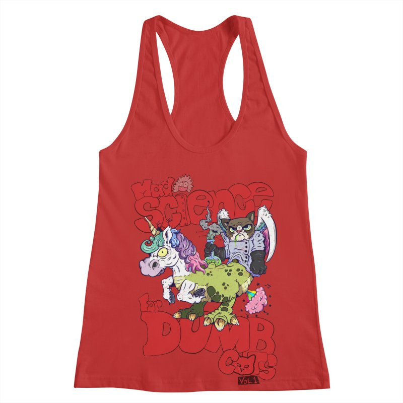 Mad Science for Dumb Cats Vol 1 Women's Racerback Tank by The Last Tsunami's Artist Shop