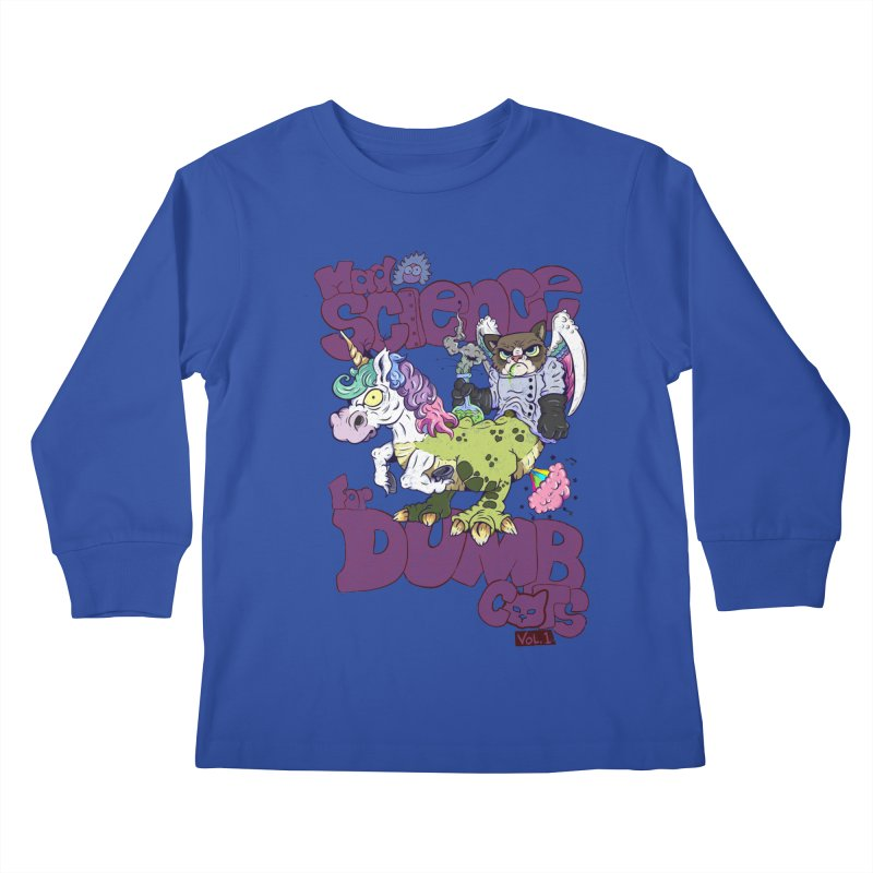 Mad Science for Dumb Cats Vol 1 Kids Longsleeve T-Shirt by The Last Tsunami's Artist Shop