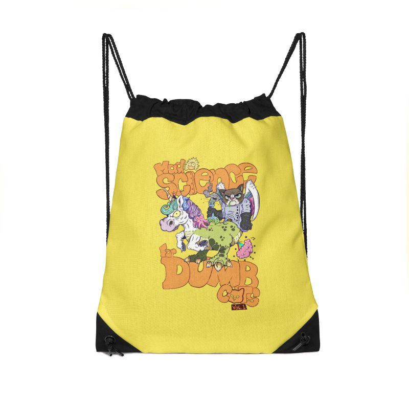 Mad Science for Dumb Cats Vol 1 Accessories Drawstring Bag Bag by The Last Tsunami's Artist Shop