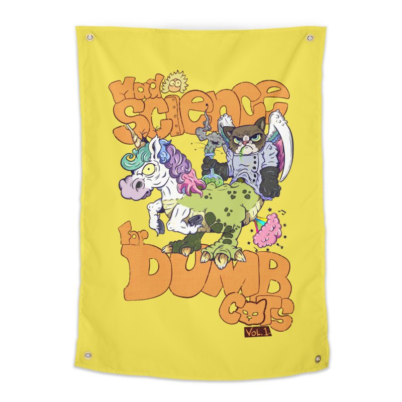 Mad Science for Dumb Cats Vol 1 Home Tapestry by The Last Tsunami's Artist Shop