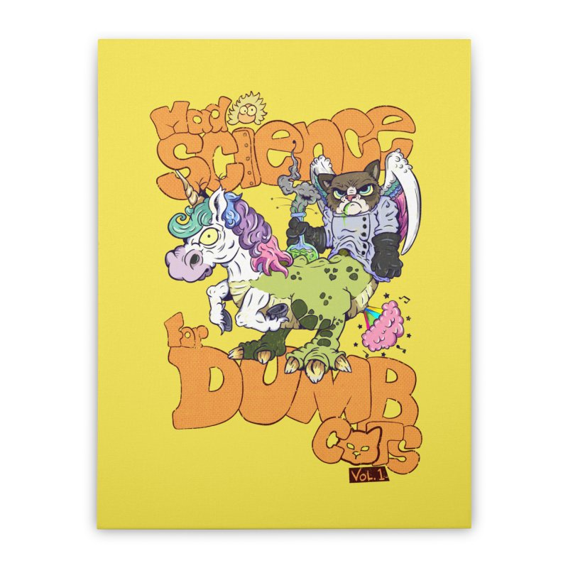 Mad Science for Dumb Cats Vol 1 Home Stretched Canvas by The Last Tsunami's Artist Shop