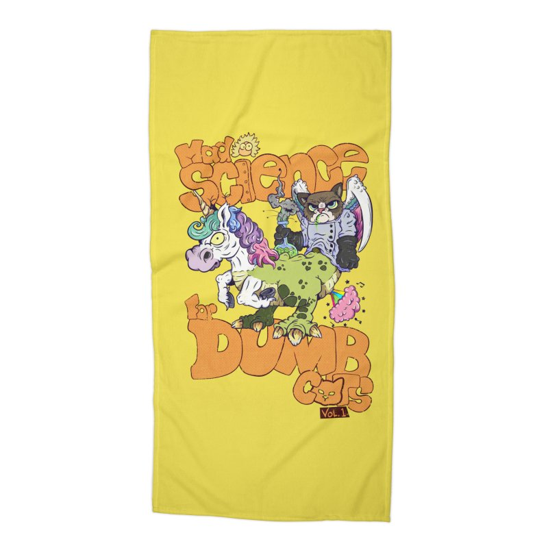 Mad Science for Dumb Cats Vol 1 Accessories Beach Towel by The Last Tsunami's Artist Shop