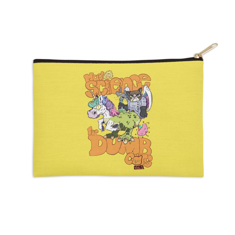 Mad Science for Dumb Cats Vol 1 Accessories Zip Pouch by The Last Tsunami's Artist Shop