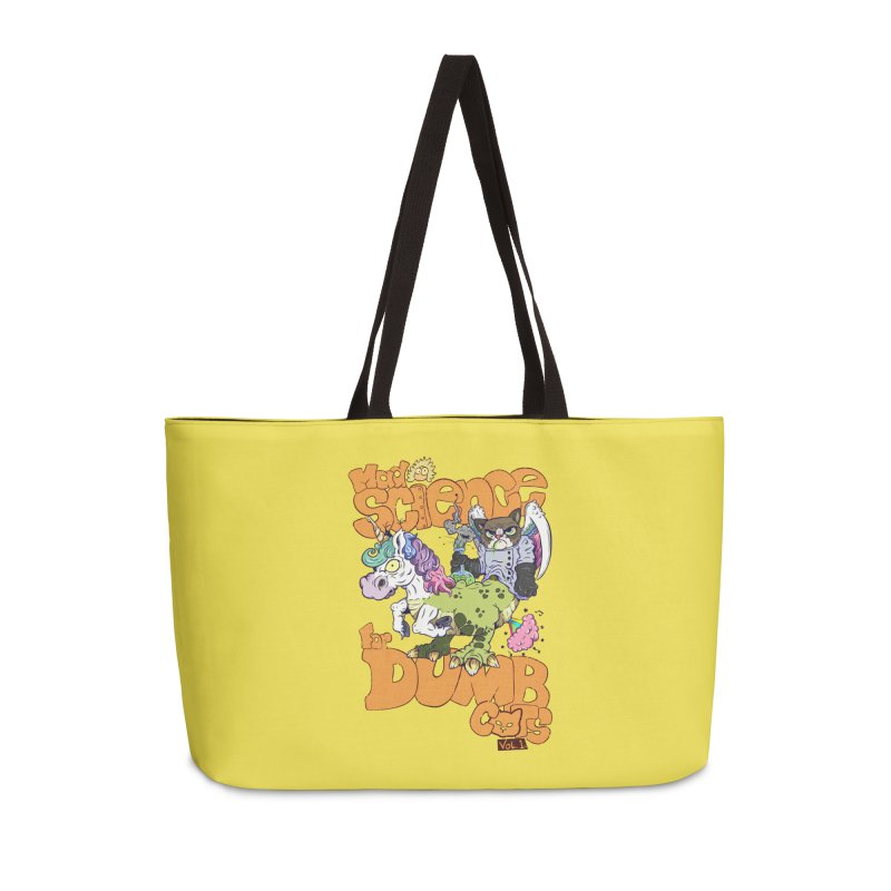 Mad Science for Dumb Cats Vol 1 Accessories Weekender Bag Bag by The Last Tsunami's Artist Shop