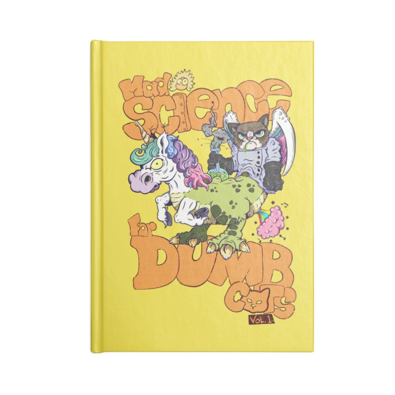 Mad Science for Dumb Cats Vol 1 Accessories Blank Journal Notebook by The Last Tsunami's Artist Shop