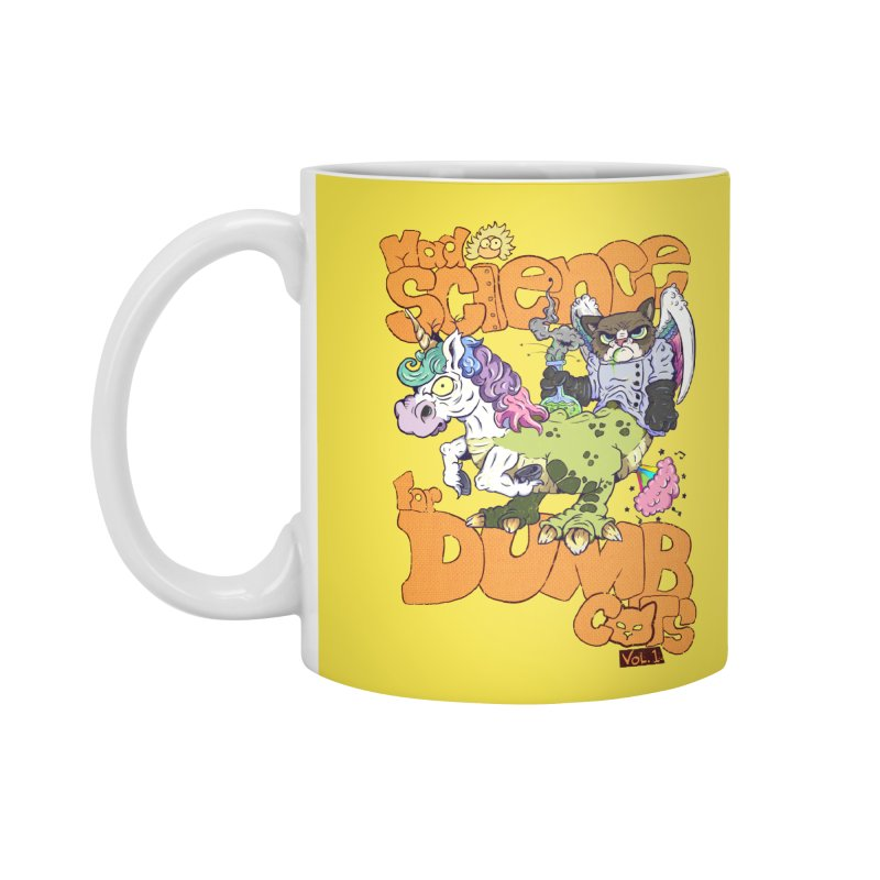 Mad Science for Dumb Cats Vol 1 Accessories Mug by The Last Tsunami's Artist Shop