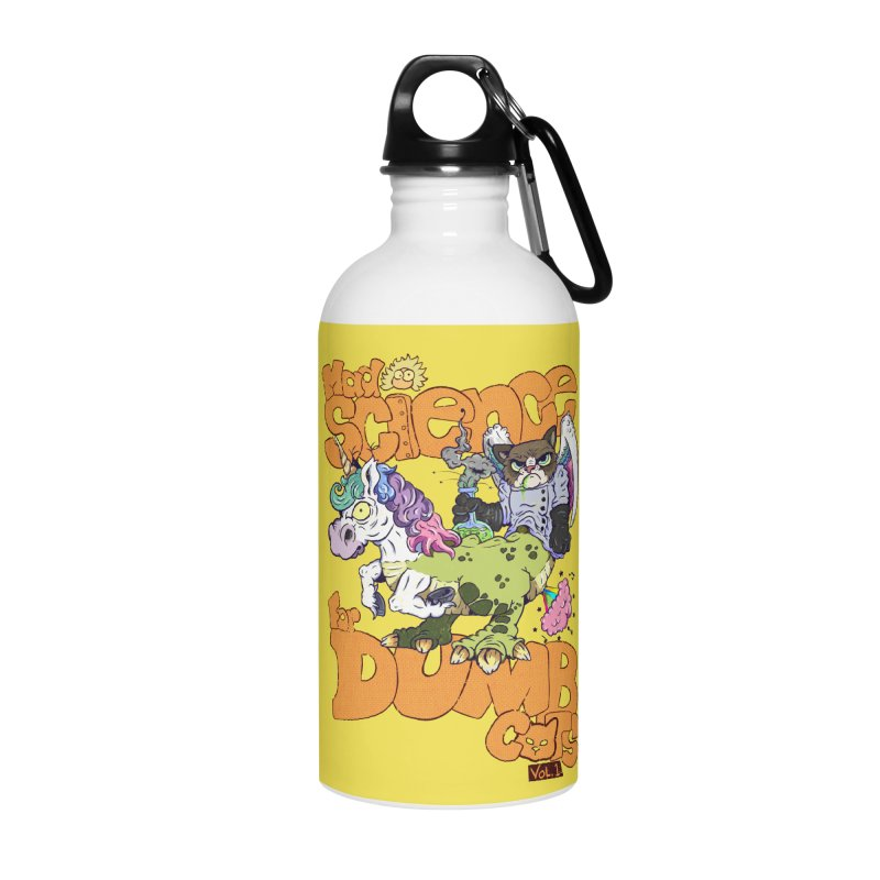 Mad Science for Dumb Cats Vol 1 Accessories Water Bottle by The Last Tsunami's Artist Shop