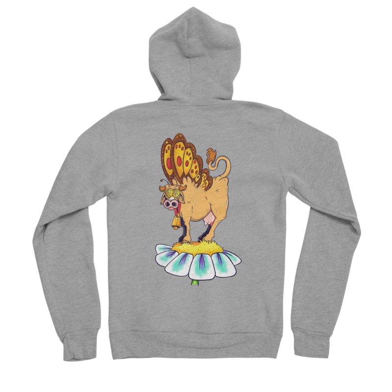 La Vaca Mariposa (The Cow Butterfly) Women's Sponge Fleece Zip-Up Hoody by The Last Tsunami's Artist Shop