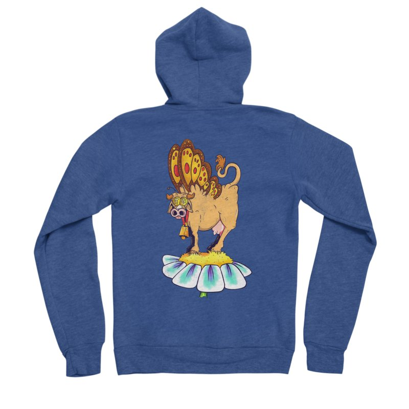 La Vaca Mariposa (The Cow Butterfly) Men's Sponge Fleece Zip-Up Hoody by The Last Tsunami's Artist Shop