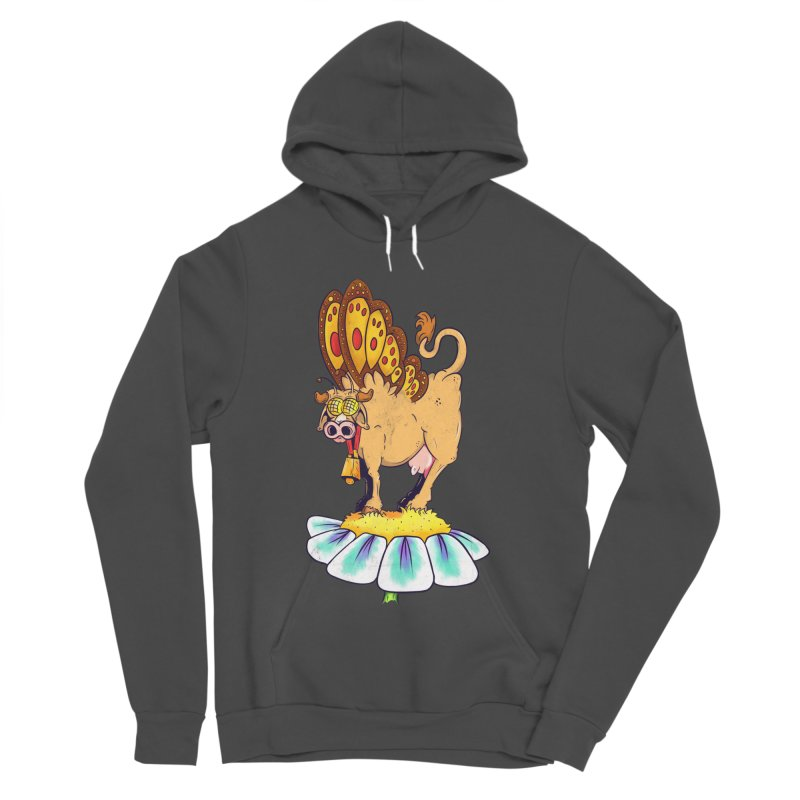 La Vaca Mariposa (The Cow Butterfly) Women's Sponge Fleece Pullover Hoody by The Last Tsunami's Artist Shop
