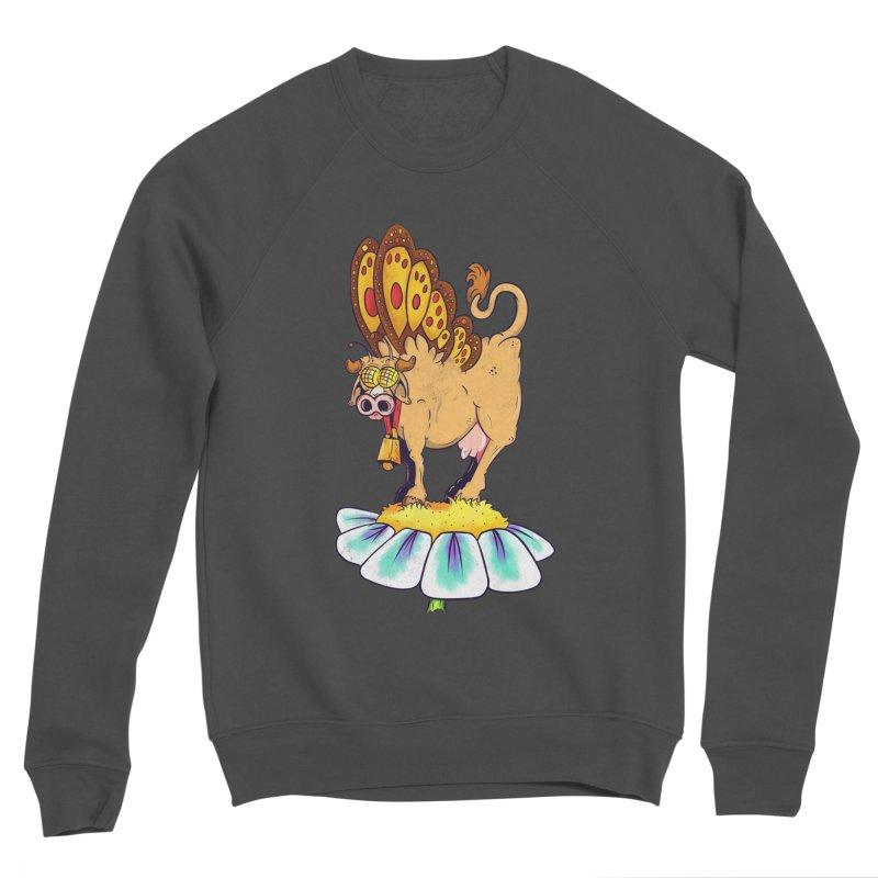 La Vaca Mariposa (The Cow Butterfly) Women's Sponge Fleece Sweatshirt by The Last Tsunami's Artist Shop