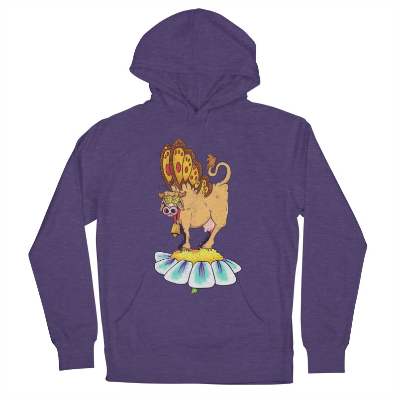 La Vaca Mariposa (The Cow Butterfly) Men's French Terry Pullover Hoody by The Last Tsunami's Artist Shop