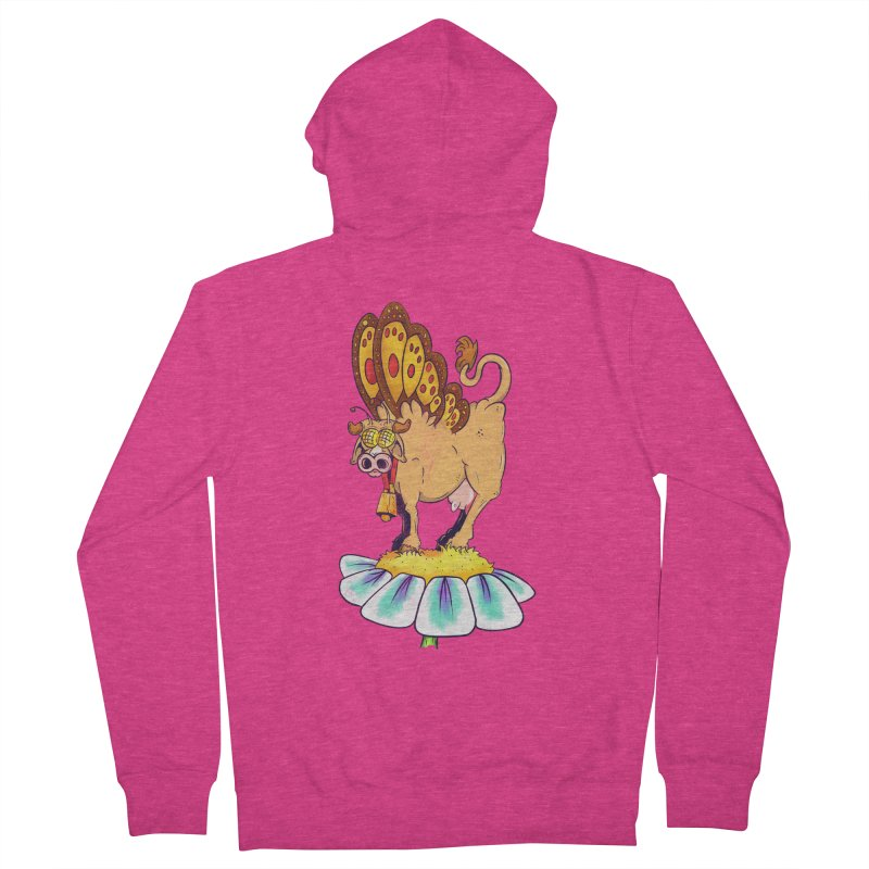 La Vaca Mariposa (The Cow Butterfly) Women's French Terry Zip-Up Hoody by The Last Tsunami's Artist Shop
