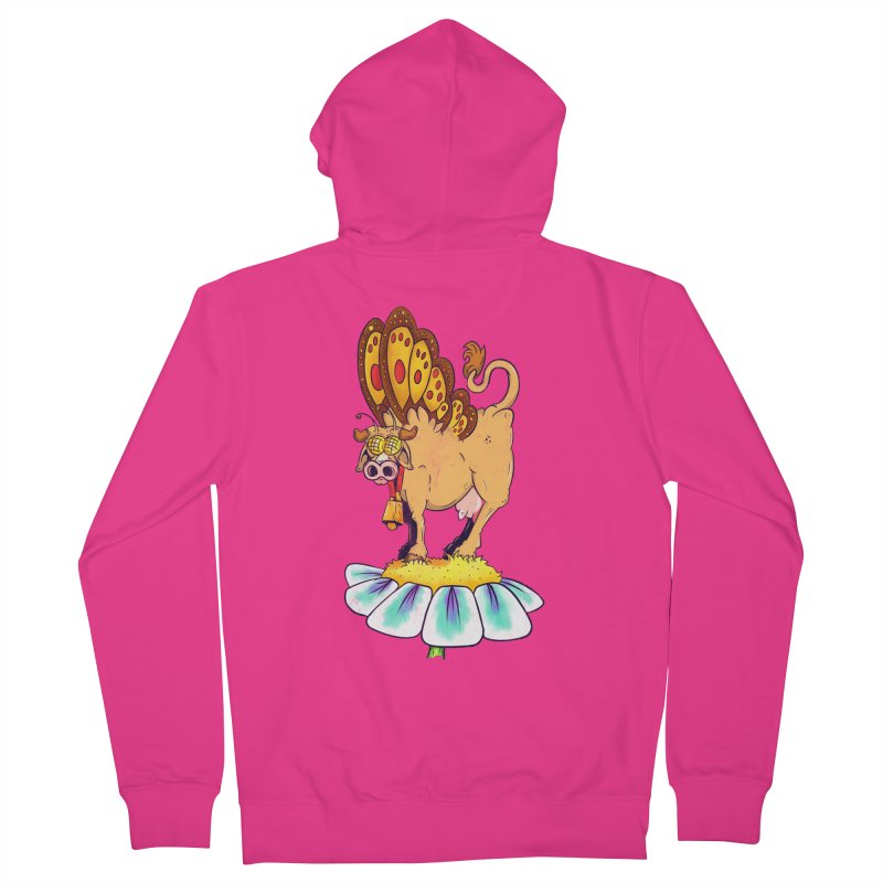 La Vaca Mariposa (The Cow Butterfly) Men's French Terry Zip-Up Hoody by The Last Tsunami's Artist Shop